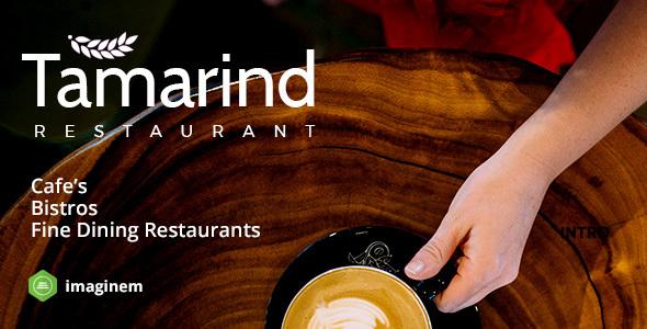 Wordpress Entertainment Template Tamarind Restaurant Theme for WordPress
