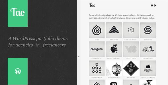 Wordpress Kreativ Template Tao: a modern & responsive 3D WordPress portfolio theme with beautiful transitions and animations