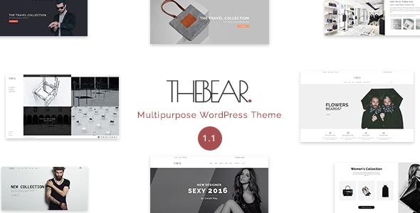 Wordpress Shop Template Thebear - Multipurpose Woocommerce Theme