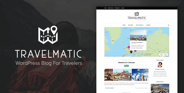Wordpress Blog Template Travelmatic - Travel Blog WordPress Theme