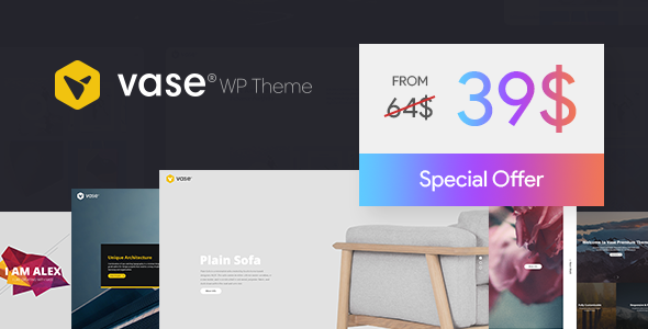 Wordpress Kreativ Template Vase - Premium WP Theme