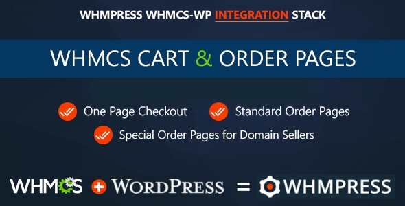 Wordpress E-Commerce Plugin WHMCS Cart & Order Pages - One Page Checkout