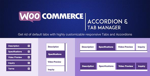 Wordpress E-Commerce Plugin WOOATM- WooCommerce Accordions & Tab Manager