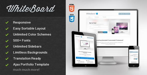 Wordpress Corporate Template WhiteBoard WordPress Theme