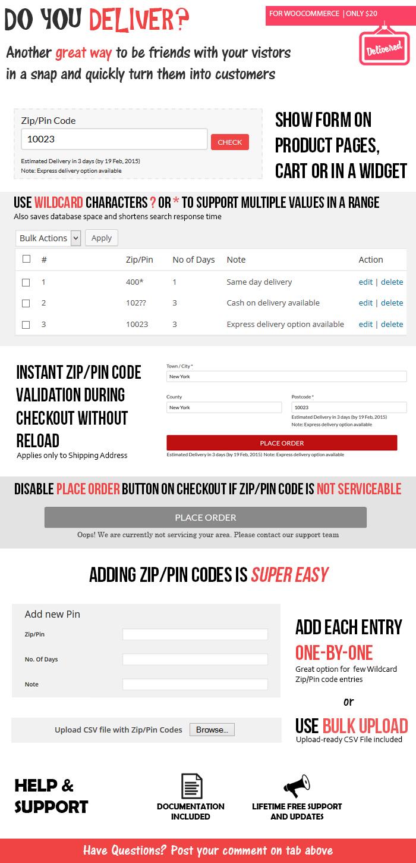 Wordpress E-Commerce Plugin WooCommerce Do you Deliver?