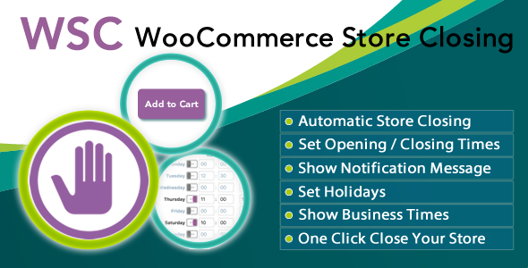 Wordpress E-Commerce Plugin Woocommerce Store Closing