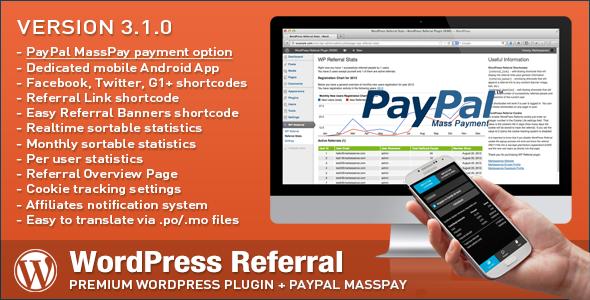 Wordpress Add-On Plugin WordPress Affiliate & Referral Plugin