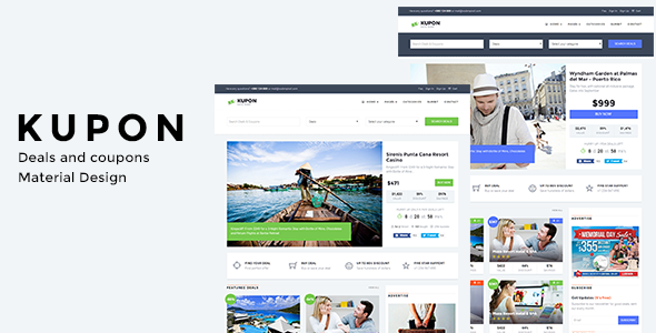 Wordpress Directory Template WordPress Coupon Theme, Daily Deals, Group Buying Marketplace - KUPON