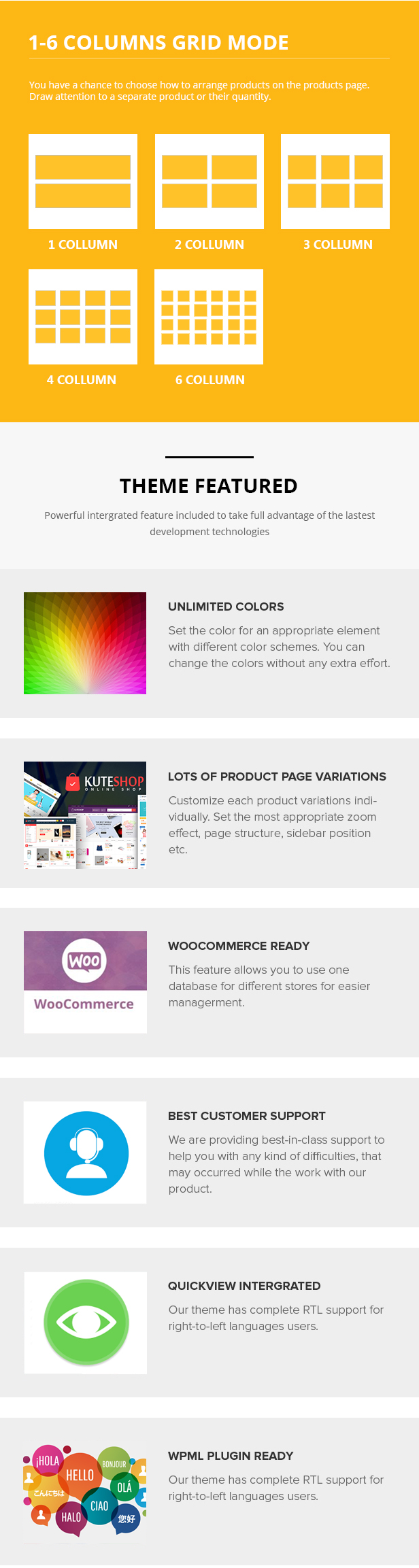 Kute Shop - Super Markt Responsive WooComerce WordPress Template