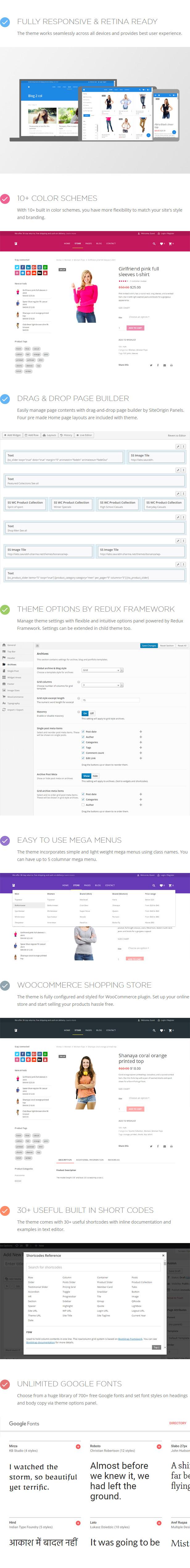 Bonanza WordPress-Themen-Features