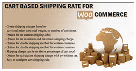 Warenkorbbasierte Versandrate für WooCommerce