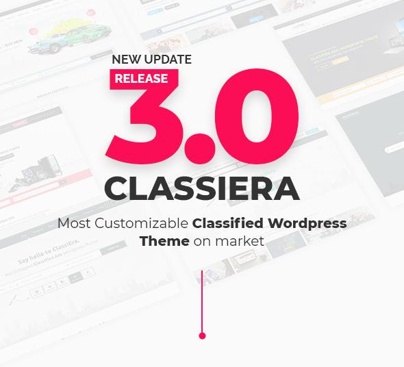 Classiera - Kleinanzeigen WordPress Vorlage - Agentur zweigelb