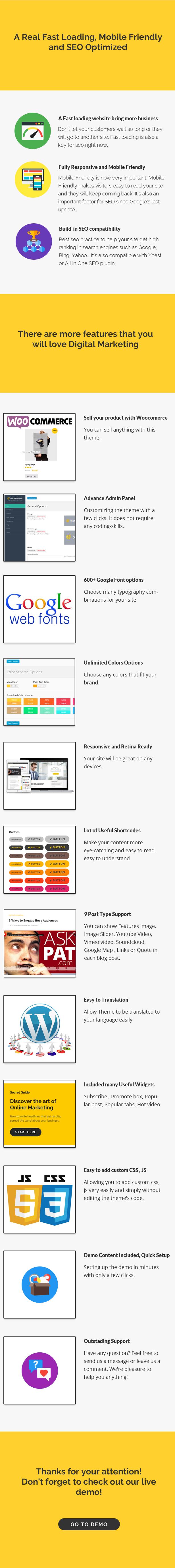 Digitales Marketing - Blog WordPress Vorlage
