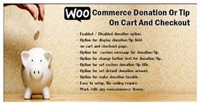 WooCommerce-Spende oder Tipp auf Warenkorb und Kasse