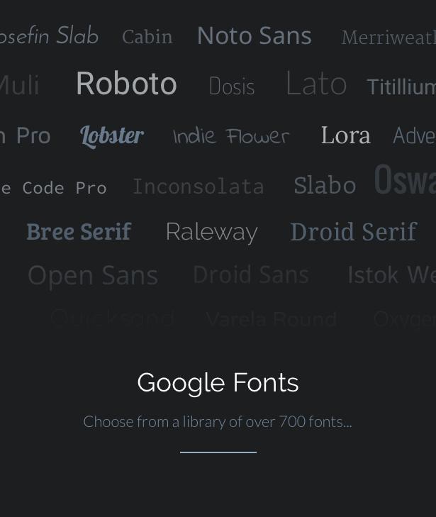 Google Schriftarten