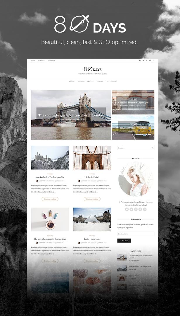 WordPress-Reise-Blog-Thema