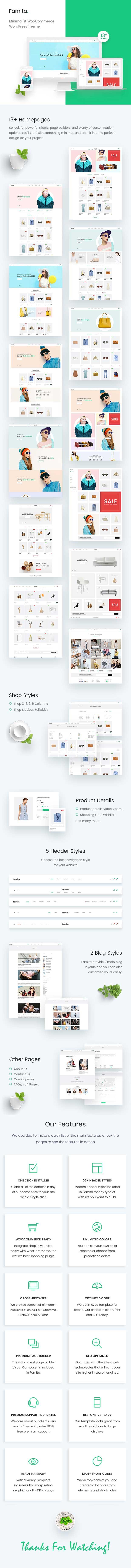 Famita - minimalistisches WooCommerce WordPress Layout