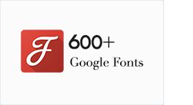 600+ Google Schriftarten