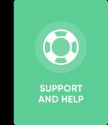 Bei Problemen können Sie sich an unseren Support wenden