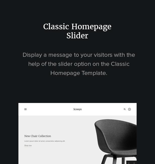 Homepage-Schieberegler