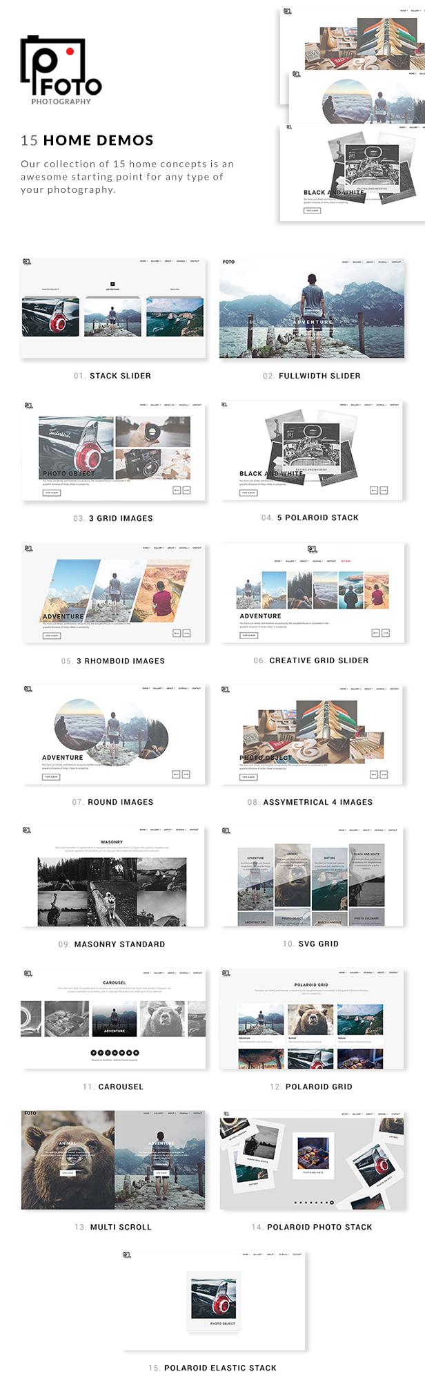 Foto - Fotografie WordPress Themes für Fotografen