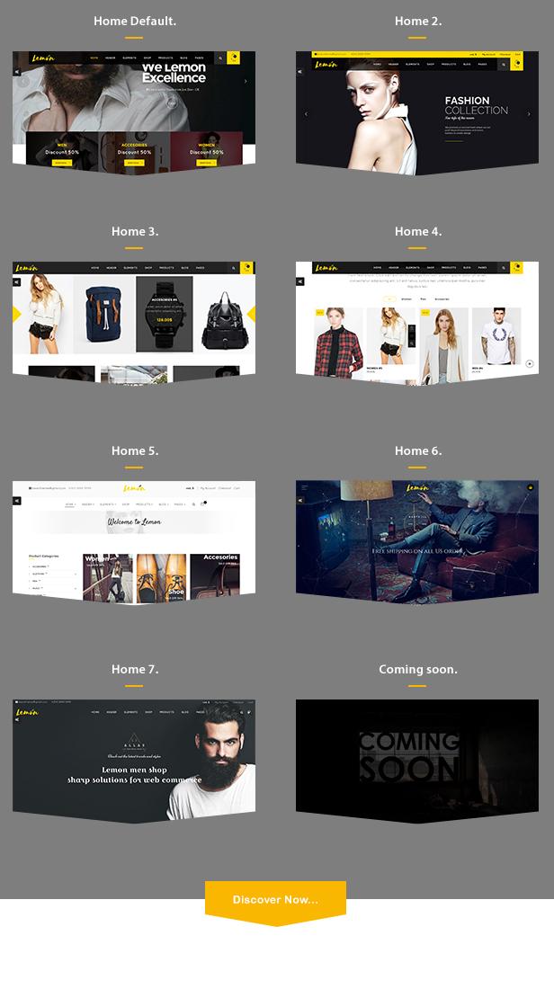 Zitrone | Ein sauberes und glattes WooCommerce WordPress Template