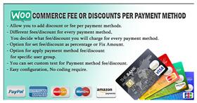 WooCommerce-Gebühr oder Rabatte pro Zahlungsmethode