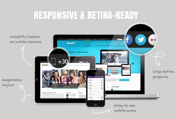 Nimble - Mehrzweck Retina Ready WordPress Vorlage