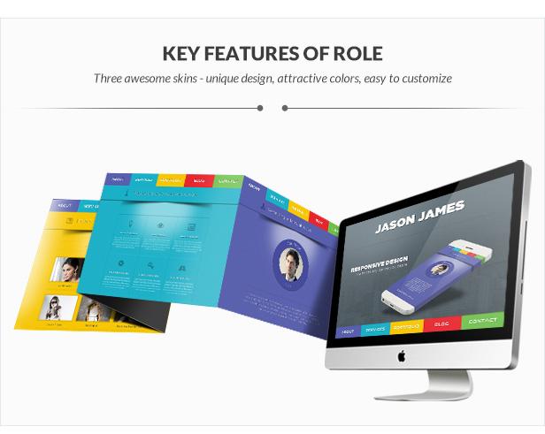 Rollenportfolio | Ein Seitenportfolio WordPress Vorlage