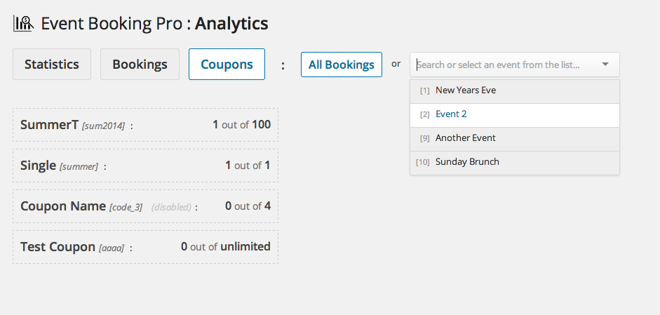 Event Booking Pro: Analyse & Check-in-Addon