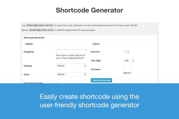 WordPress Knowledgebase Shortcode Plugin