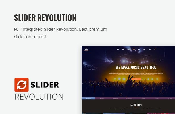 AMITA - Musikband WordPress Template