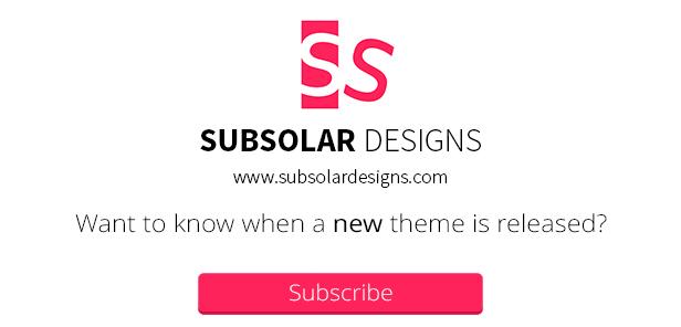 Subsolar Designs-Abonnement