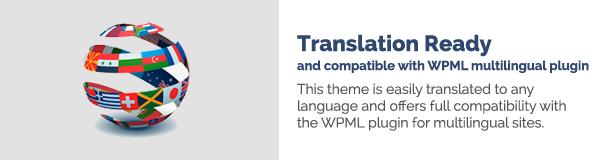 Übersetzung fertig und kompatibel mit dem mehrsprachigen WPML-Plugin Dieses Thema kann leicht in jede Sprache übersetzt werden und bietet vollständige Kompatibilität mit dem WPML-Plugin für mehrsprachige Websites.