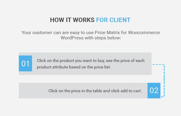 Flexible Tabellenkalkulationsmatrix für WooCommerce