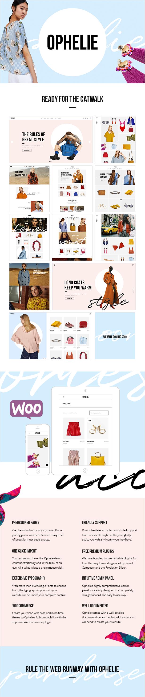 Ophelie - WooCommerce-Template für Modegeschäfte, -Shops und -marken
