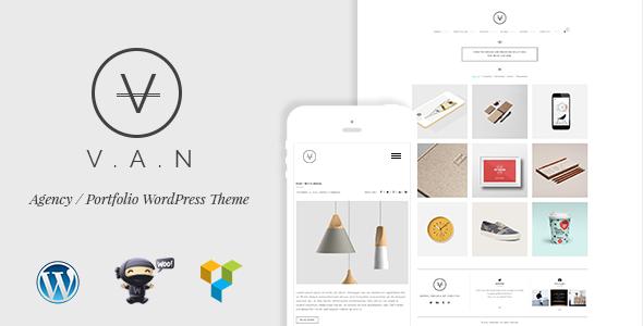 VAN- Minimalistische Agentur, Fotogalerie Shop Vorlage - Creative WordPress