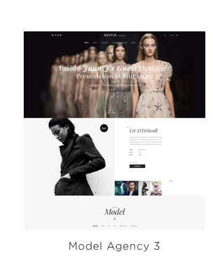 Nexttop Model WordPress Layout