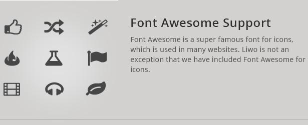 Liwo Vorlage ist eine Font-Unterstützung