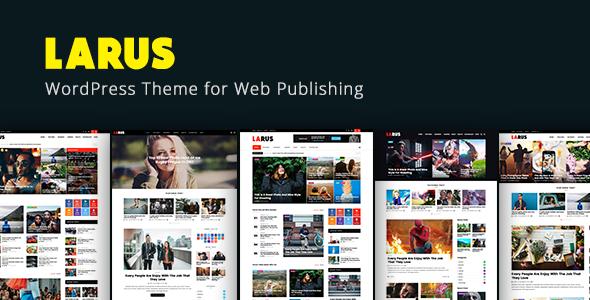 Larus - WordPress Blog Magazine Template - Nachrichten / Redaktioneller Blog / Magazin