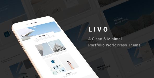 Livo - Ein sauberes und minimales Portfolio WordPress-Vorlage - 19