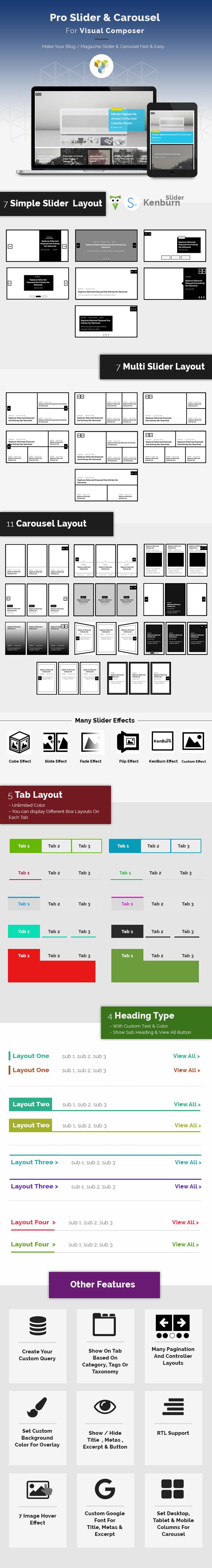 Pro Slider & Carousel Layout für Visual Composer: Erstaunlich Post & Custom Post anzeigen