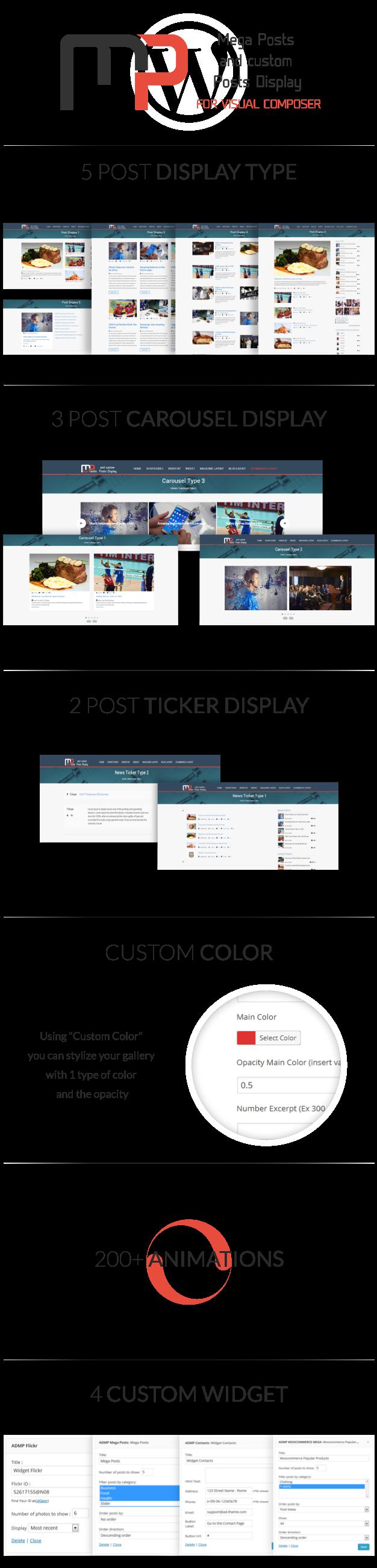 Anzeige von Mega-Posts für Visual Composer