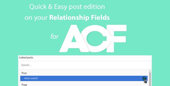 Schnelle und einfache Post-Edition für ACF Relationship Fields PRO