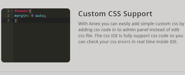 Liwo unterstützt benutzerdefinierte CSS