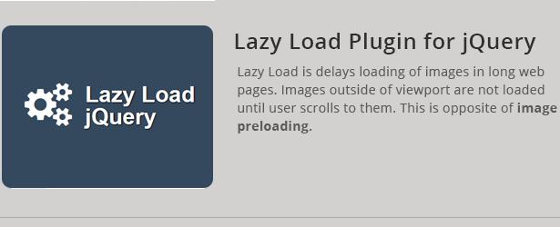 Lazy Load Plugin für jQuery