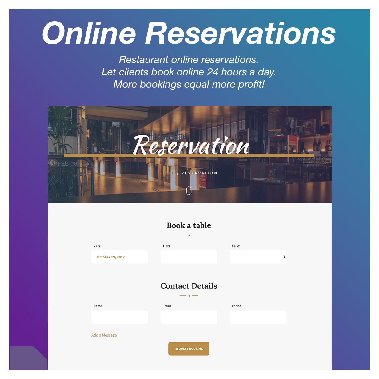 Vitto - Restaurant & Café WordPress-Layout