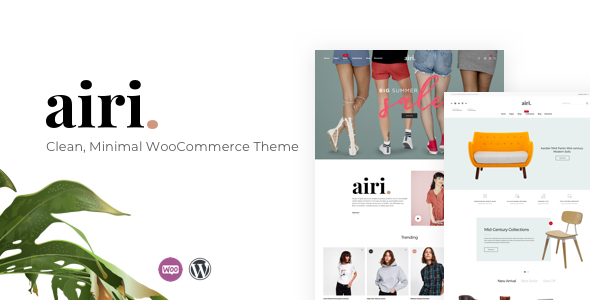 Wordpress Shop Template Airi - Clean, Minimal WooCommerce Theme