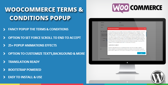 Wordpress E-Commerce Plugin WooCommerce Terms and Conditions Popup