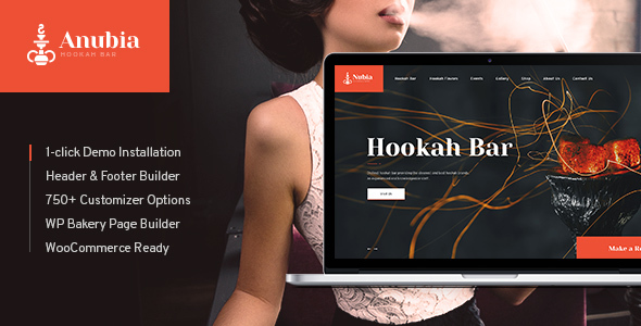 Wordpress Entertainment Template Anubia | Smoking and Hookah Bar WordPress Theme